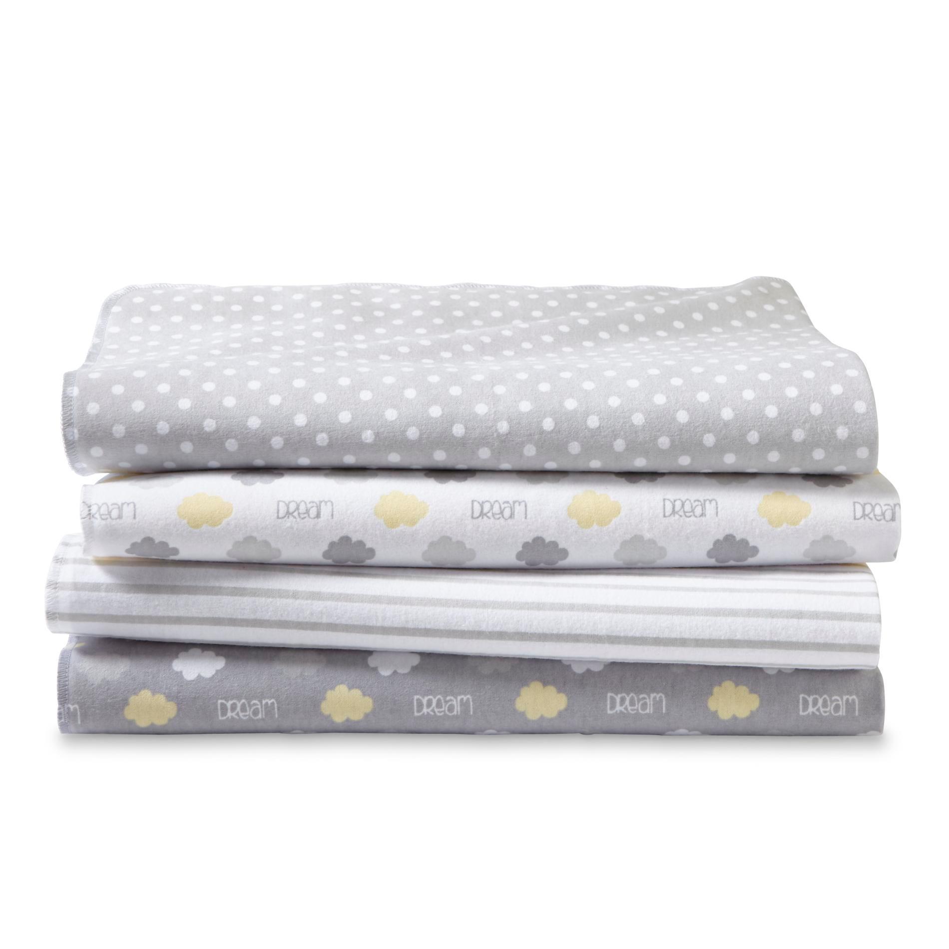 Cuddletime Infants' 4-Pack Receiving Blankets - Polka Dot