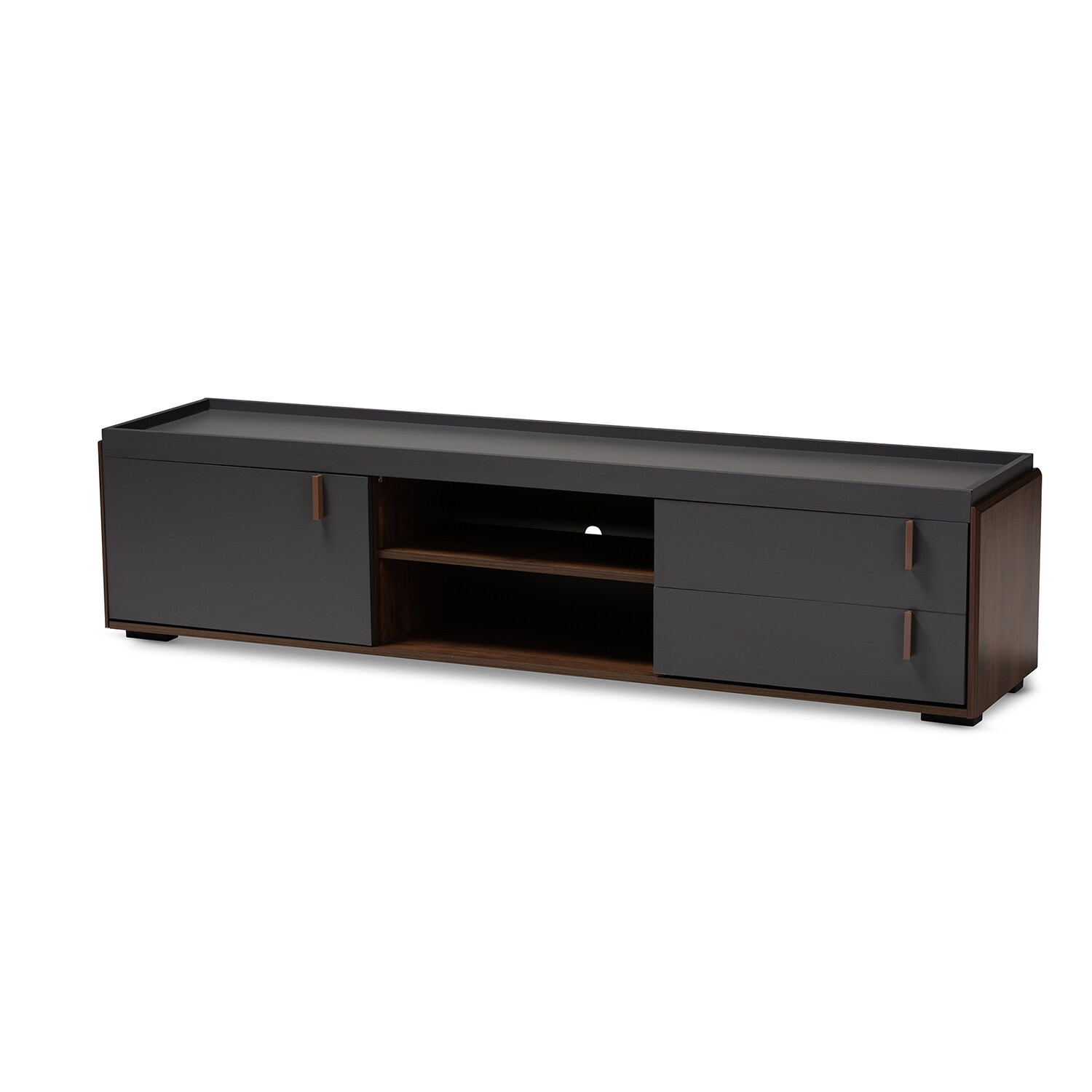 Baxton Studio Rikke Charcoal TV Stand