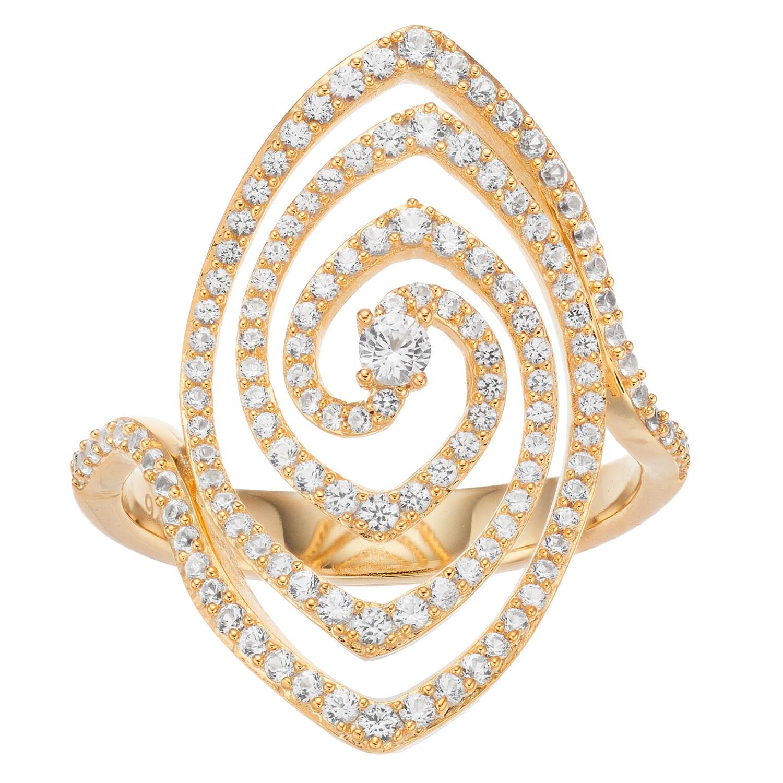 10k Gold 3/4 Carat T.W. Diamond Open Swirl Ring