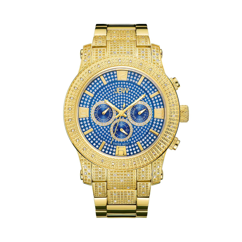 Men's JBW Lynx Diamond Accent & Crystal 18k Gold-Plated Watch - J6336C