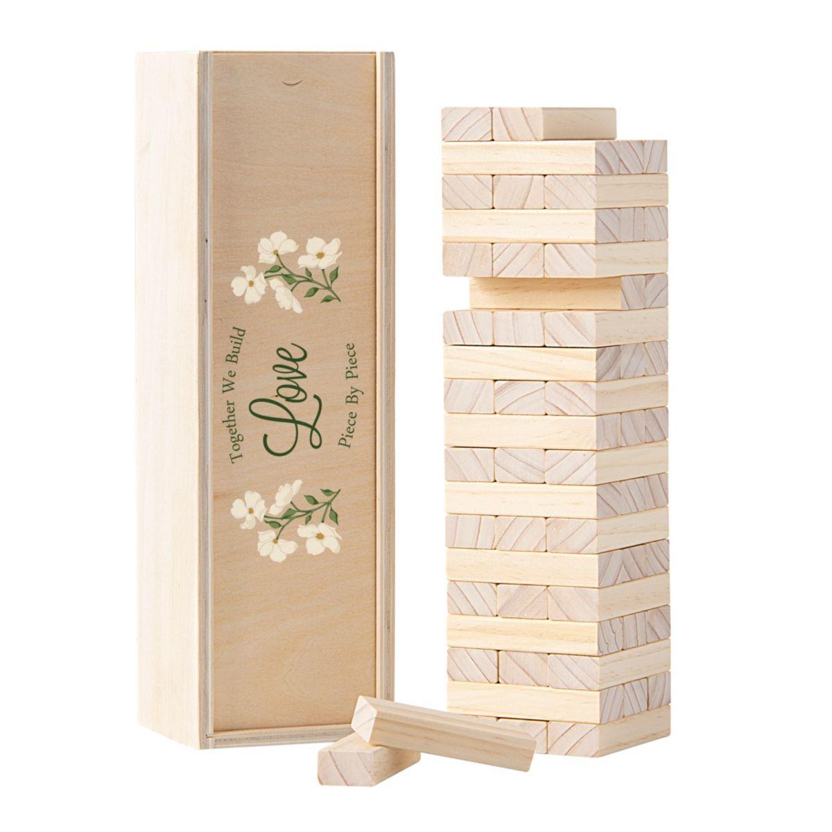 Floral Building Block Wedding Guestbook