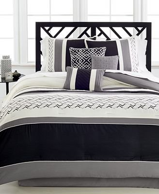 Fletcher Black 7-Pc. Comforter Set, Created for Macy's
