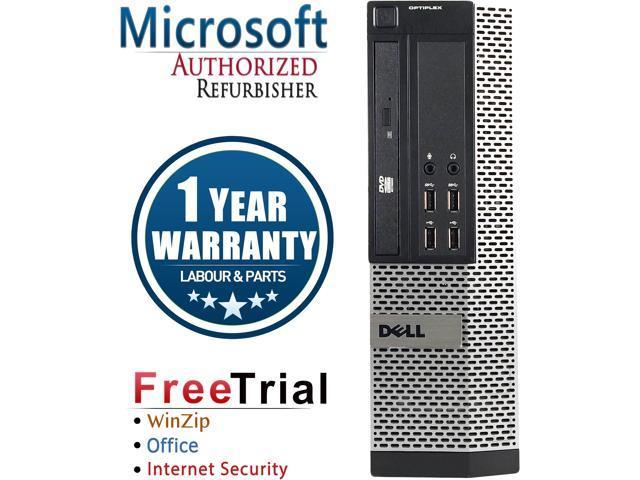 Refurbished Dell Optiplex 9010 USFF Intel Core i5 3470S 2.90 GHz / 4 GB DDR3 / 250 GB / DVD / Windows 10 Professional 64-Bit / 1 Year Warranty