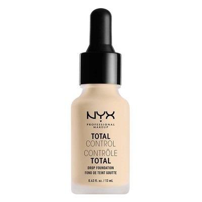 NYX Professional Makeup Total Control Drop Foundation - Light Shades - 0.43 fl oz