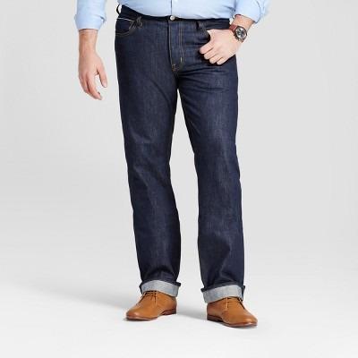 Men's Tall Slim Straight Fit Selvedge Denim Jeans - Goodfellow & Co™ Navy