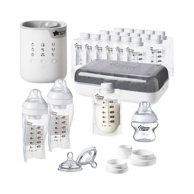 Tommee Tippee Pump And Go Complete Breast Milk Feeding Starter Set