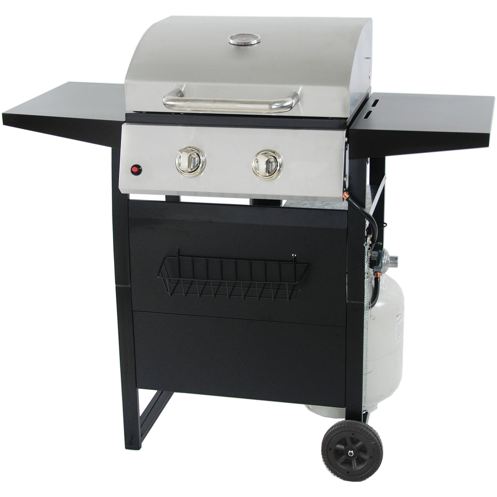 RevoAce 2-Burner Space Saver Gas Grill, Stainless Steel and Black, GBC1705WV