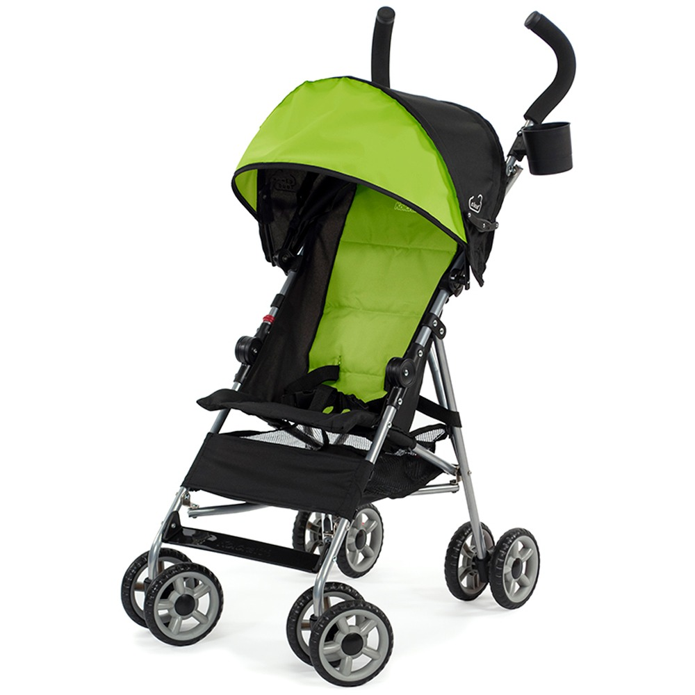 Kolcraft Cloud Lightweight Easy-Fold Umbrella Stroller with Canopy, Spring Green