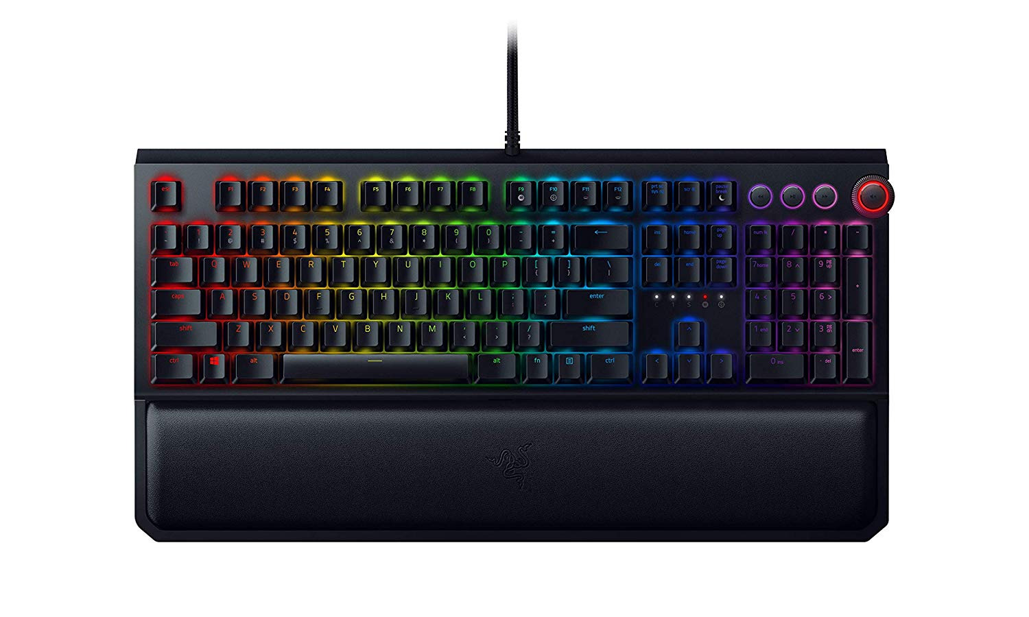 Razer BlackWidow Elite: Esports Gaming Keyboard - Multi-Function Digital Dial with Dedicated Media Controls - Ergonomic Wrist Rest - Razer Yellow Mechanical Switches (Linear and Silent)