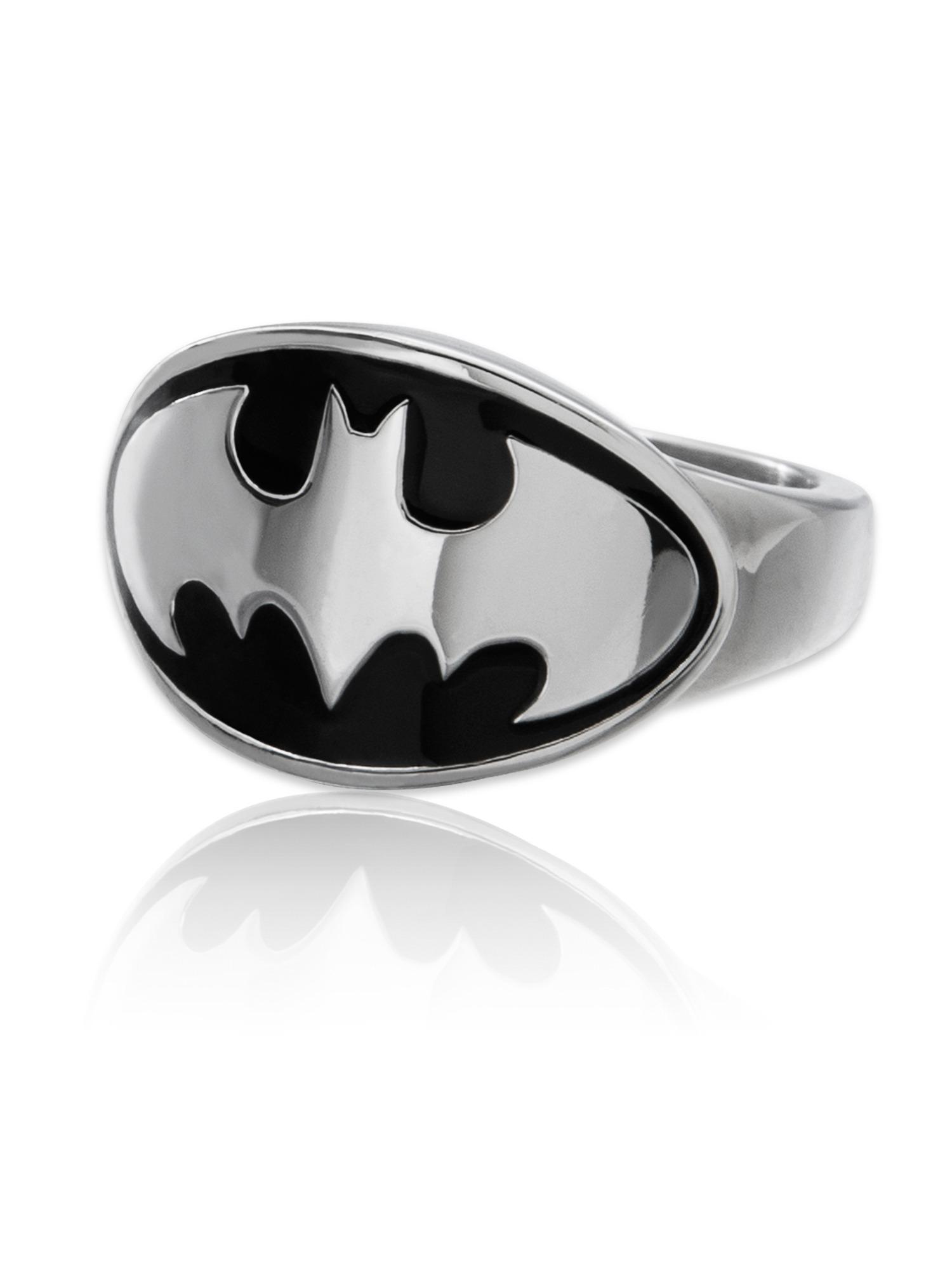 Stainless Steel Batman Logo Ring