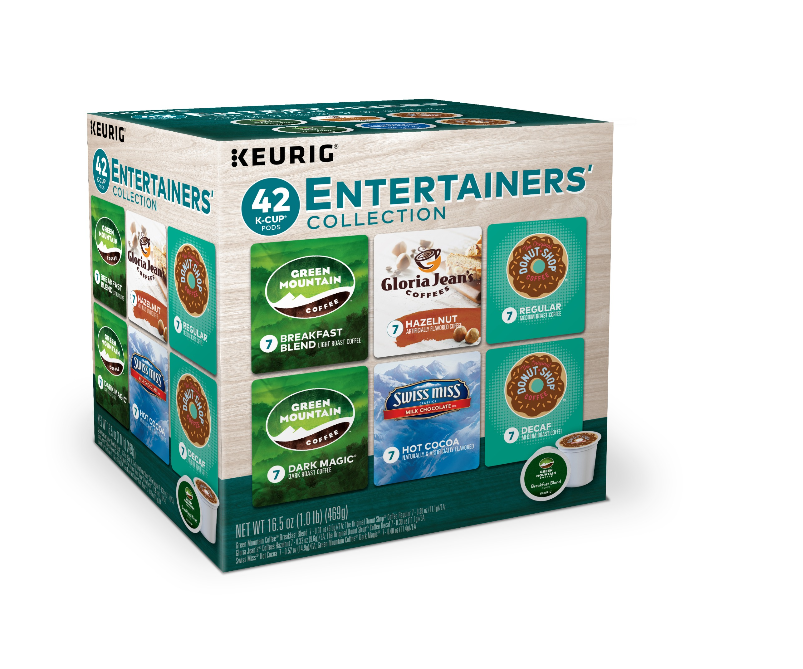 Keurig Entertainer Variety Coffee Collection K-Cup Pods, Variety Pack, 42 Count for Keurig Brewers