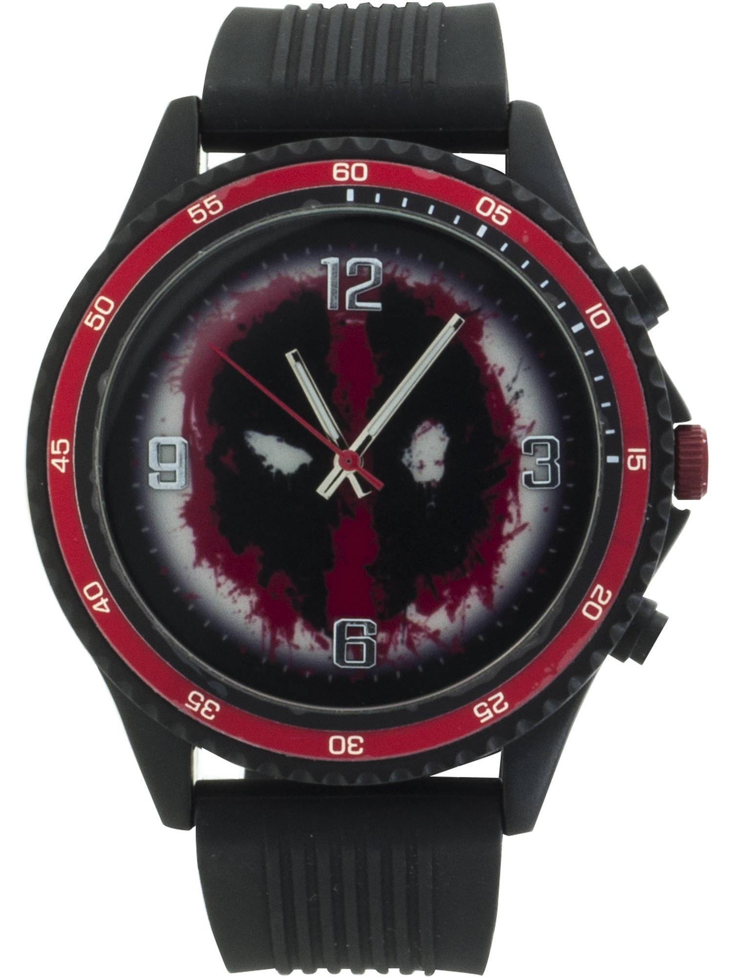Marvel Deadpool Men's Analog Watch, Black Band