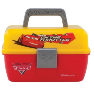 Shakespeare Disney Cars Fishing Tackle Box, Small, Yellow / Red
