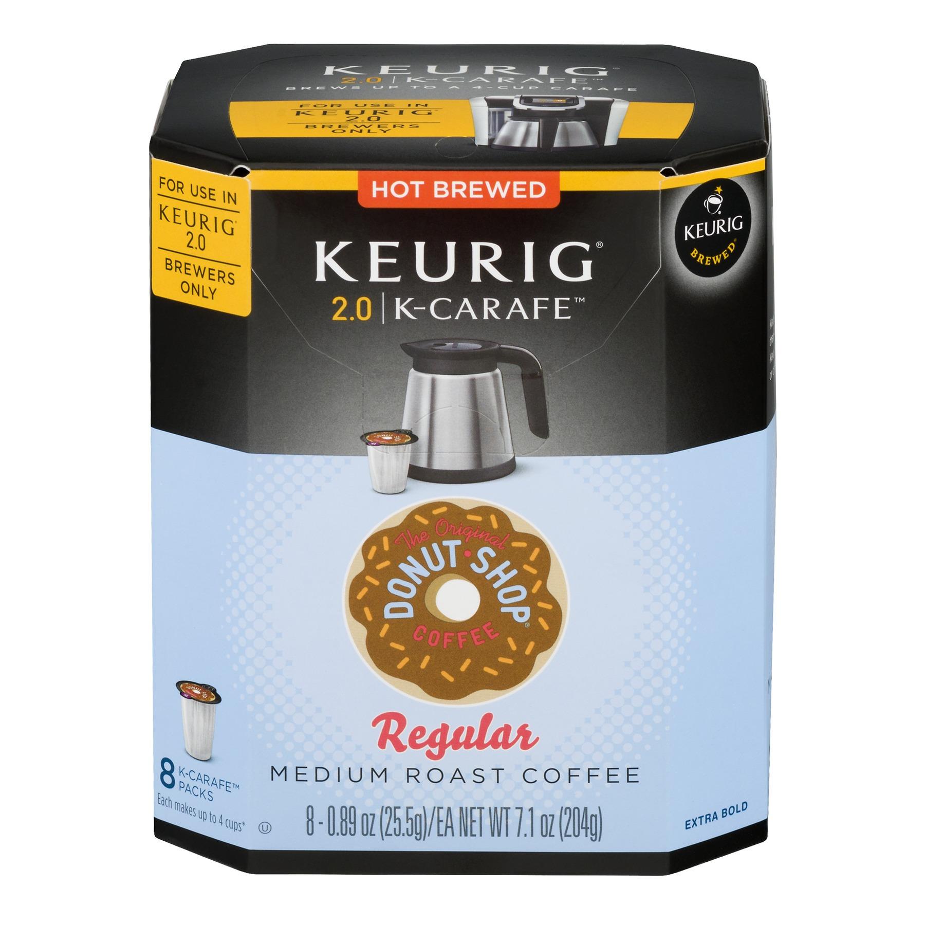 Keurig Coffee Regular Medium Roast K-Carafe, 0.89 OZ, 8 Count