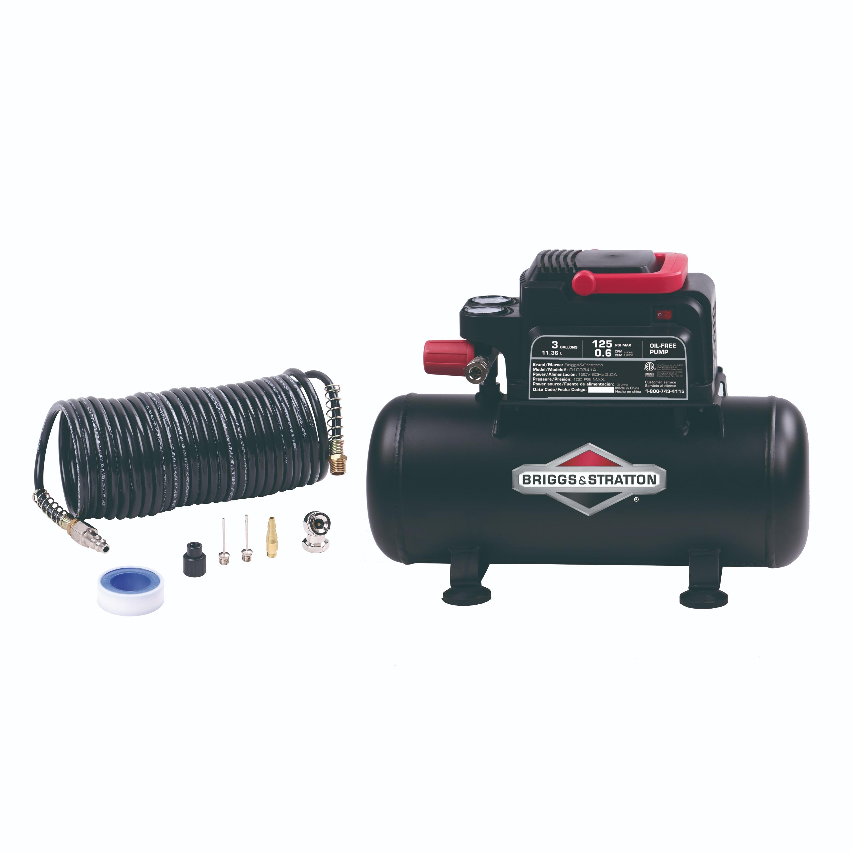 Briggs & Stratton 3 gallon air compressor with 8 piece accessory kit