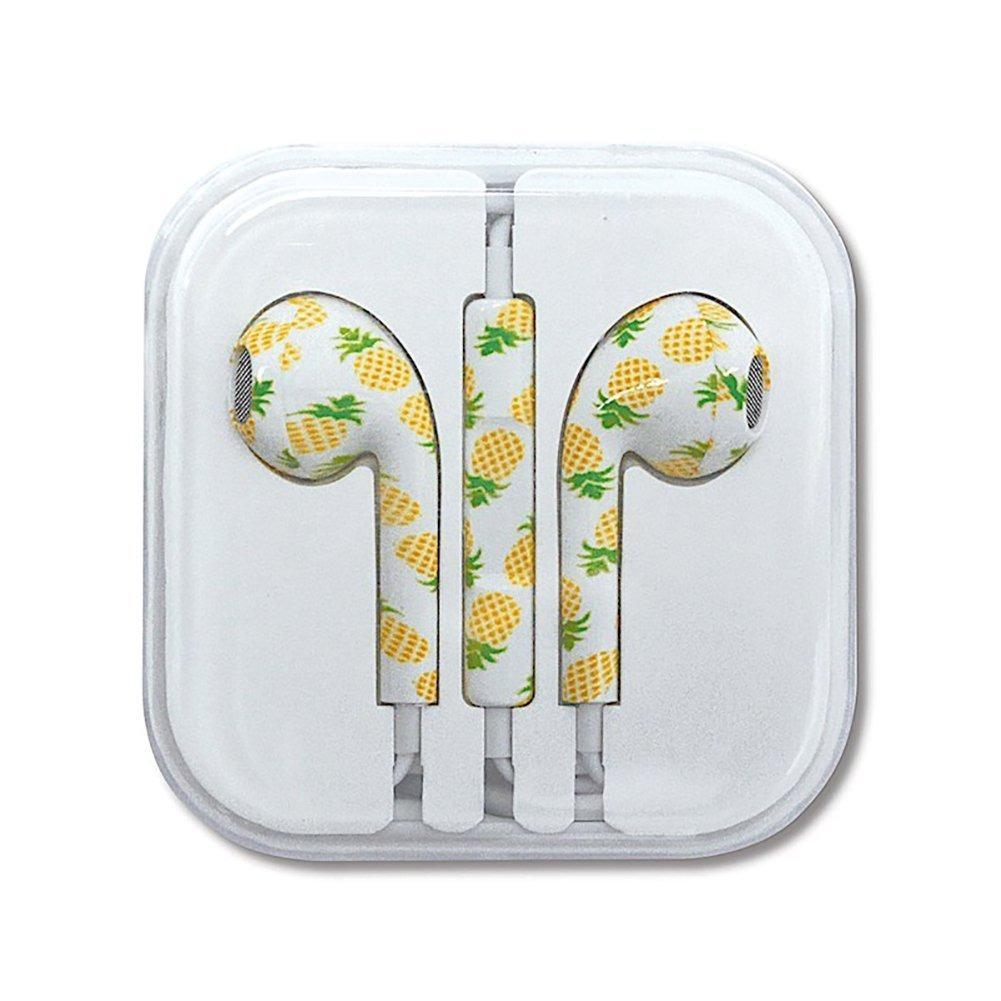 Hawaiian Style Ear Buds Pineapples
