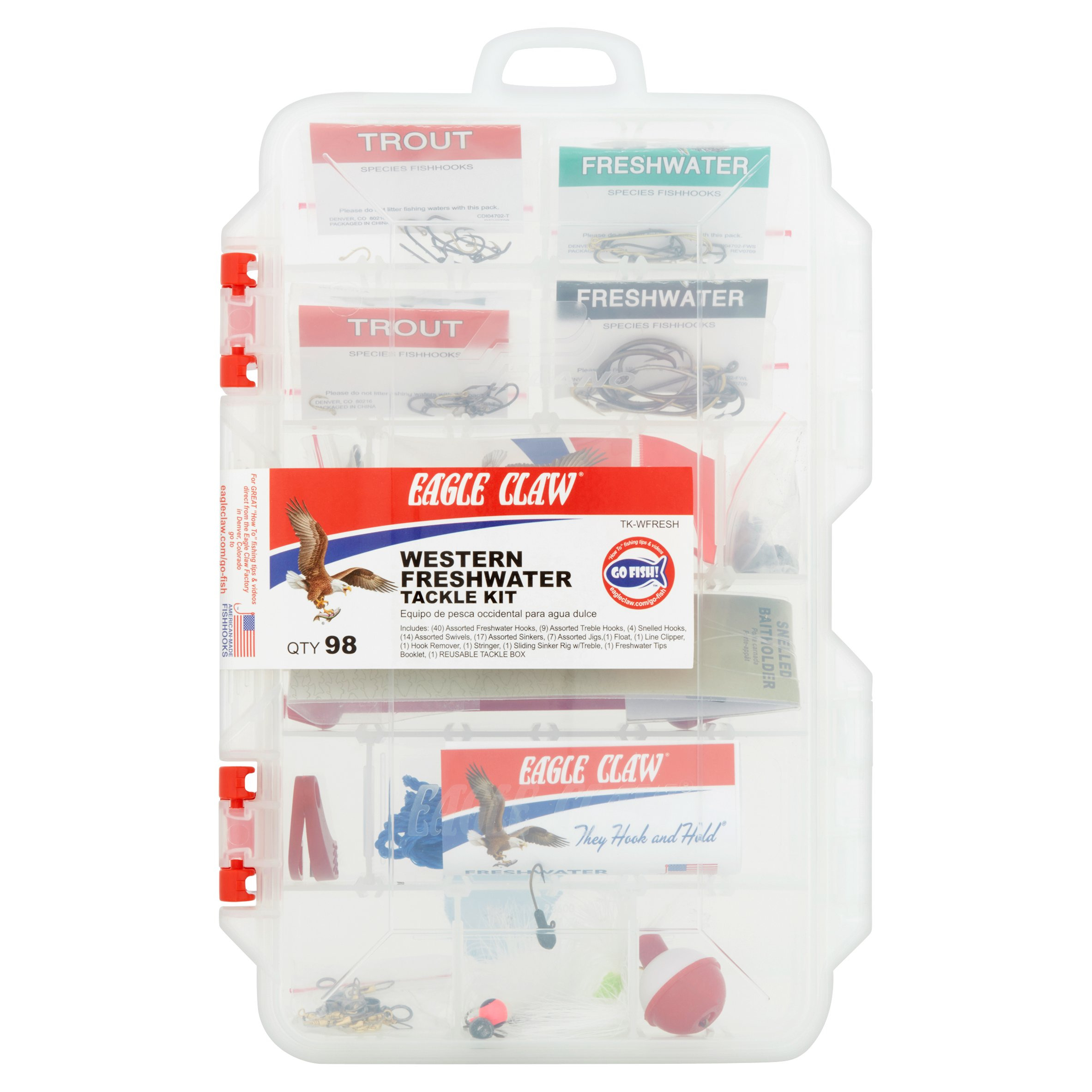 Eagle Claw Western Freshwater Tackle Kit, 98 count
