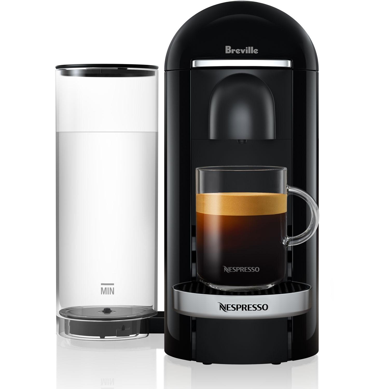 Breville Nespresso VertuoPlus Deluxe Coffee & Espresso Single-Serve Machine in Piano Black