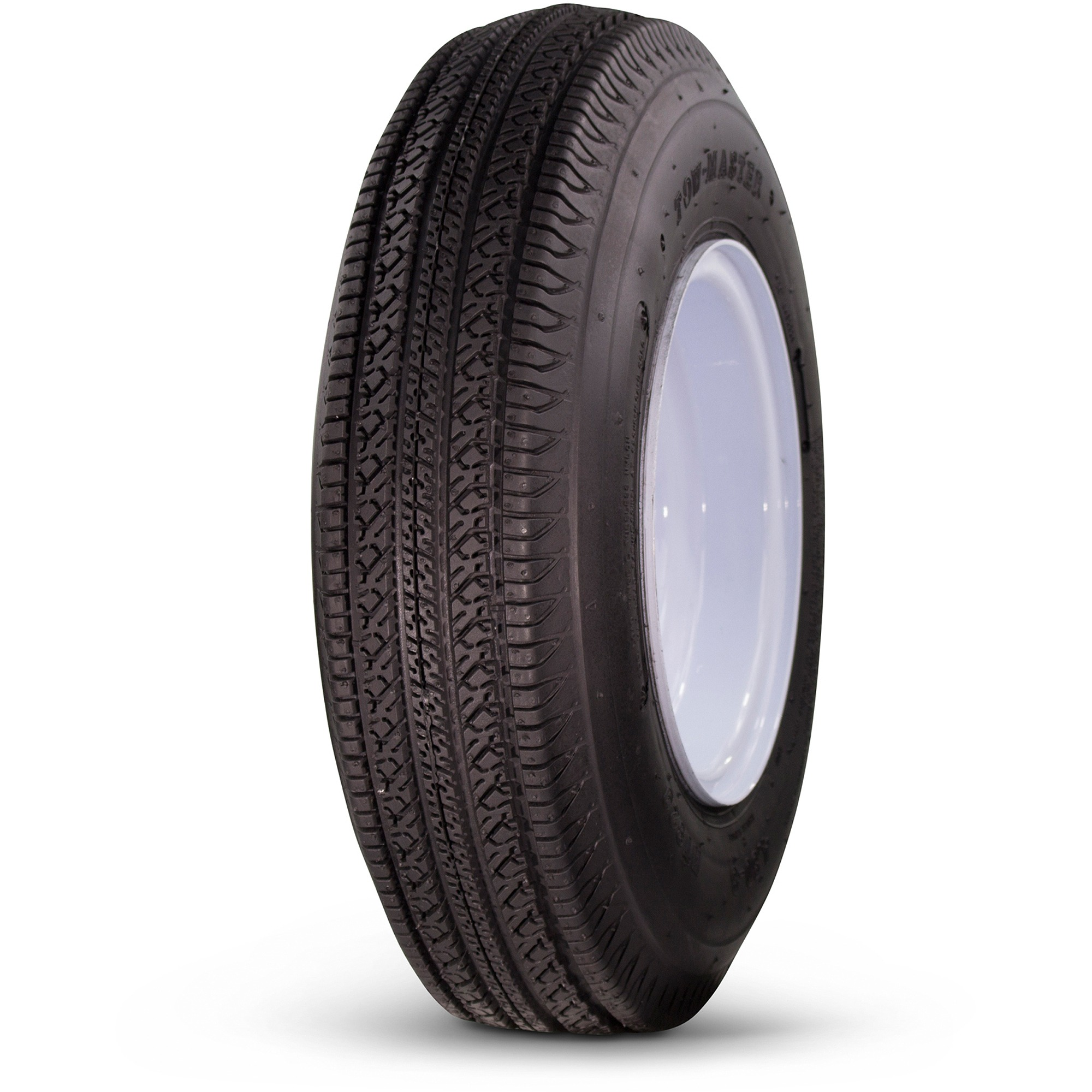 Greenball Towmaster 4.80-8 6 PR Non-Radial Hi-Speed Bias Trailer Tire and Wheel Assembly, 4 Lug White Color Wheel