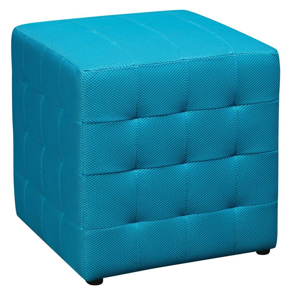 """15"""" Teal Cube Ottoman"""