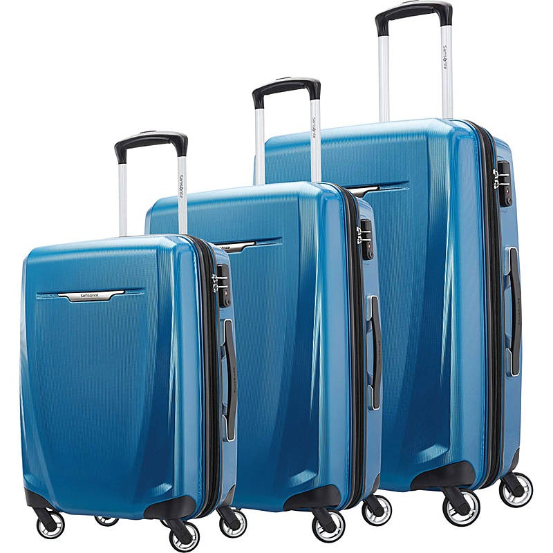 Winfield 3 DLX 3 Piece Hardside Spinner Luggage Set