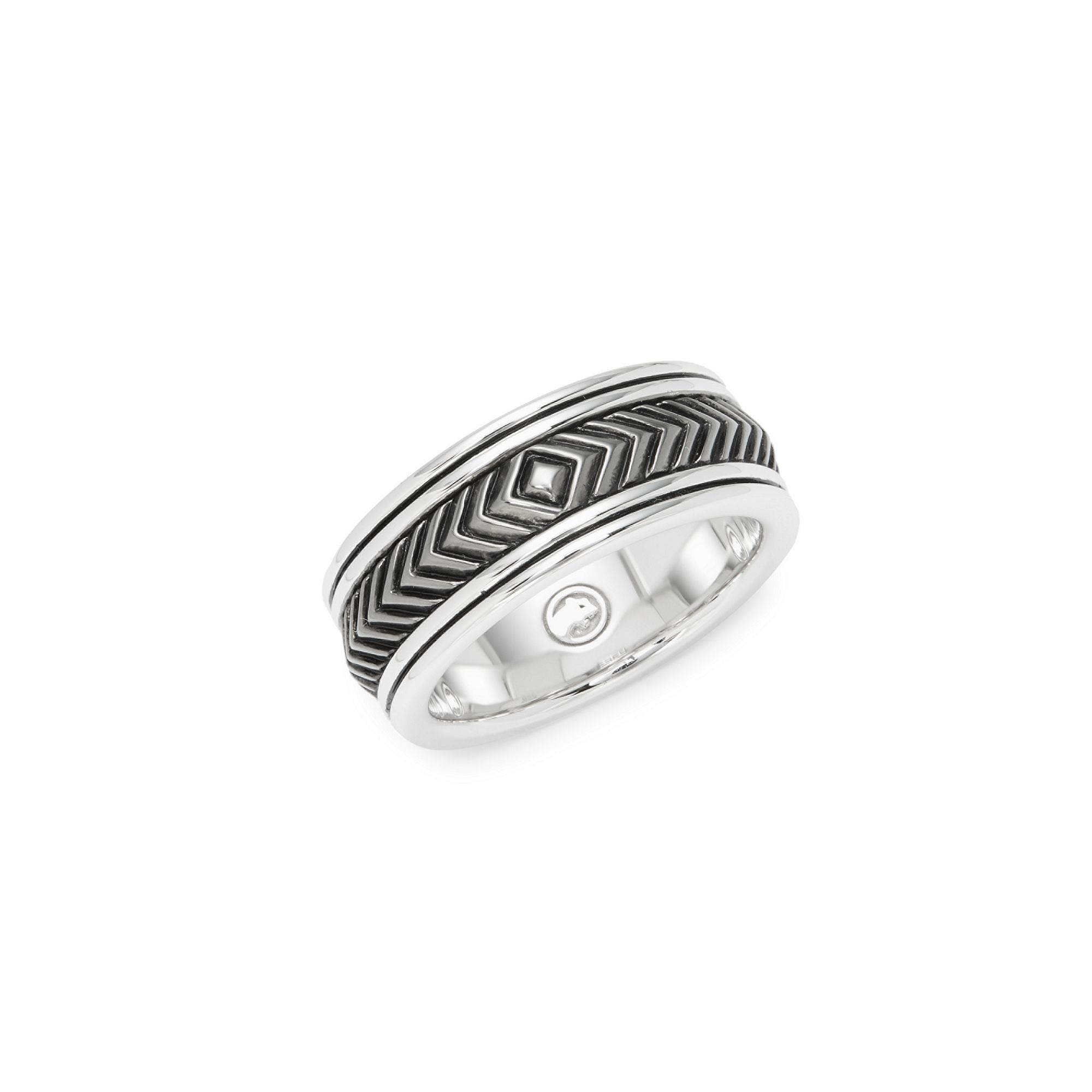 Sterling Silver Engraved Band Ring