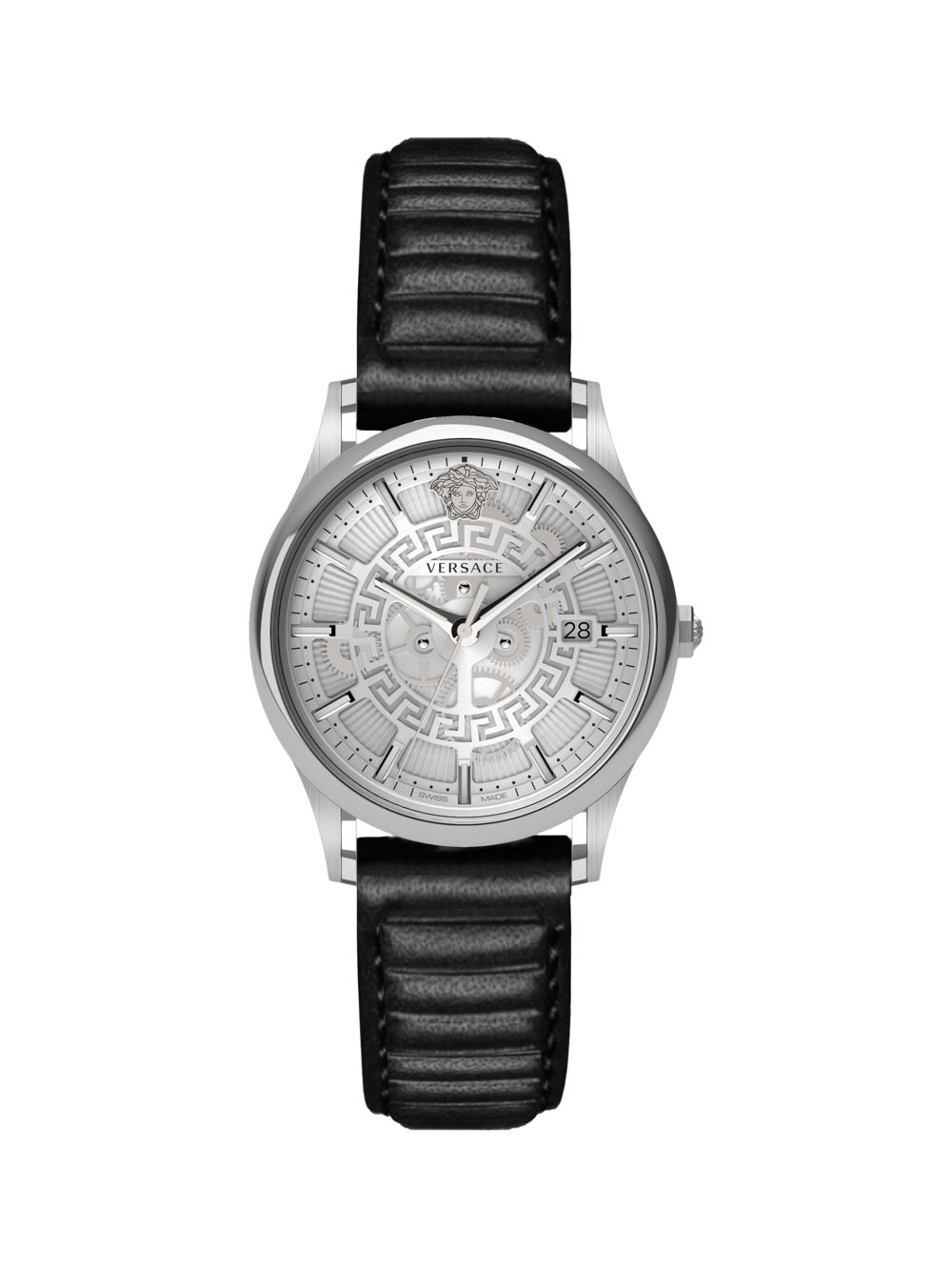 Stainless Steel Analog Leather Watch