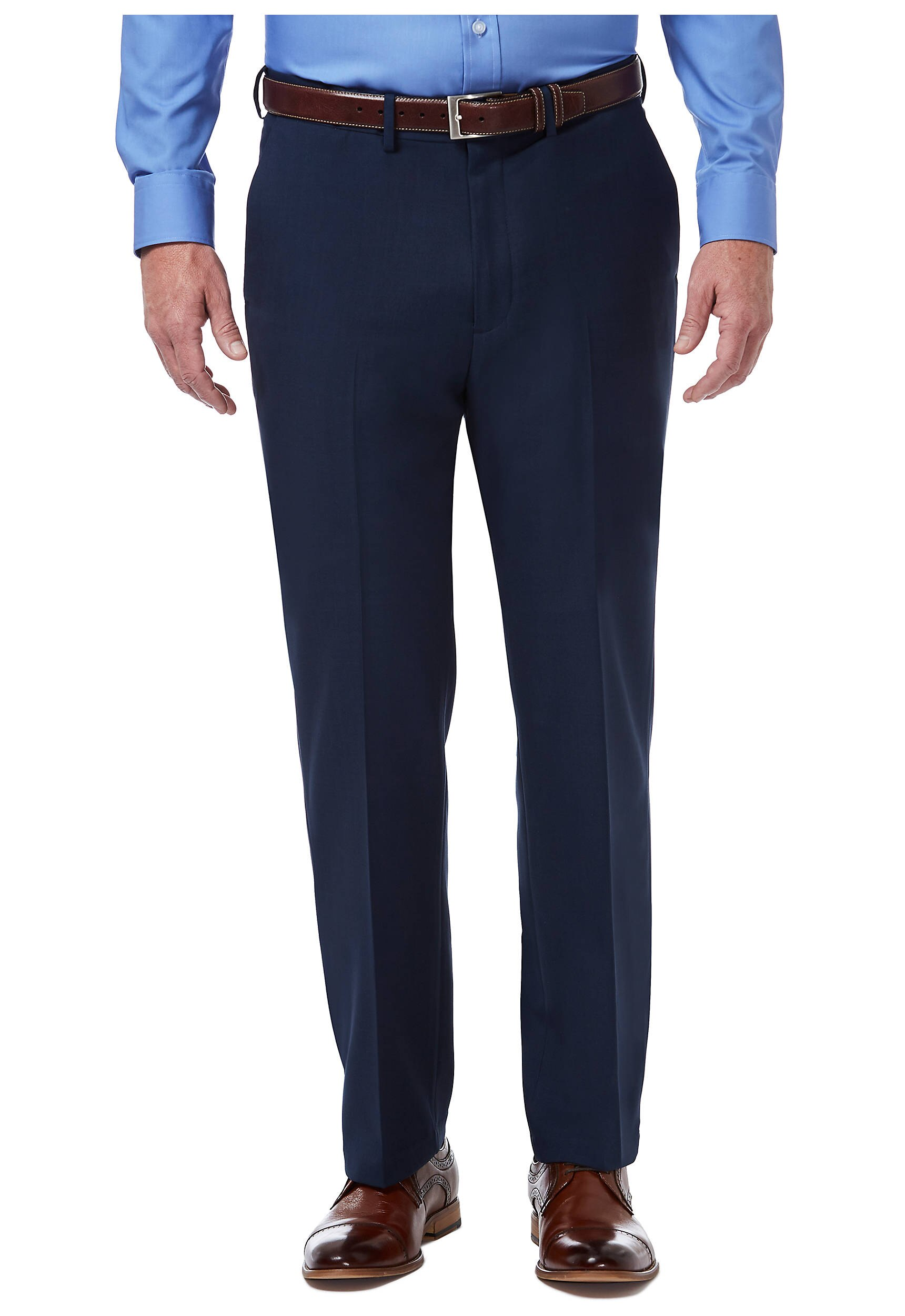 Premium Comfort Fit Flat Front Dress Pants