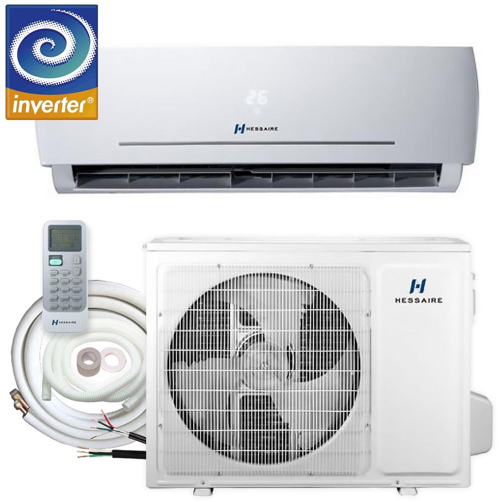 12,000 BTU 1.0 Ton 115V Ductless Mini Split Air Conditioner with Inverter, Heat Pump, Remote, and 16 ft. Copper Line Set